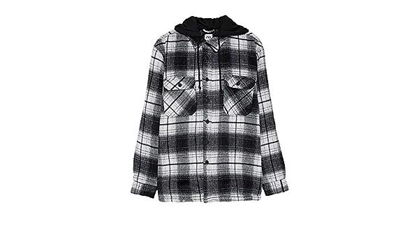 Zara 1821/375/084 - Camiseta de Cuadros para Hombre Negro L ...