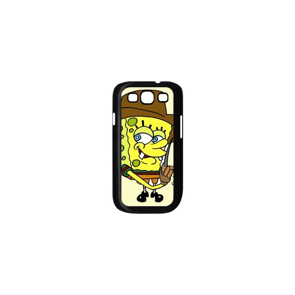 Personalized Custom Cartoon SpongeBob SquarePants Cover Case For Samsung Galaxy S3 I9300 Fitted Case S3SS23