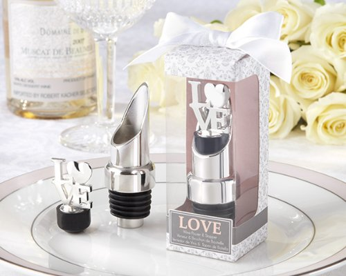 115 LOVE Chrome Pourer or Bottle Stoppers by Kateaspen