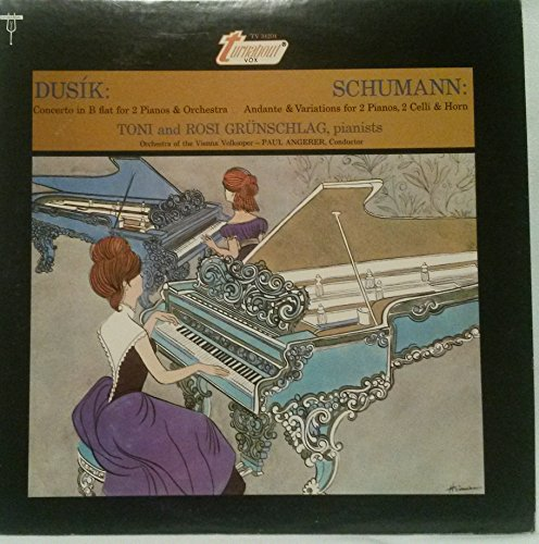 Price comparison product image DUSIK: CONCERTO in B FLAT MA. for Two Pianos and Orchestra[Op. 63 No. 10] ~ Schumann: Andante and Variations for two Pianos, two Celli and Horn (1893) ~ Turnabout Vox TV 34204 - 52 min. 22 sec.