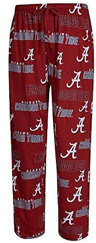 Alabama Crimson Tide Mens Crimson College Cotton Slide Pajama Pants (Medium) Alabama Pants