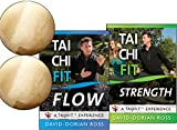 Bundle: Tai Chi Fit 2-DVD set with Wood Tai Chi Balls - FLOW / STRENGTH with David-Dorian Ross **Bestselling New Starter Pack**