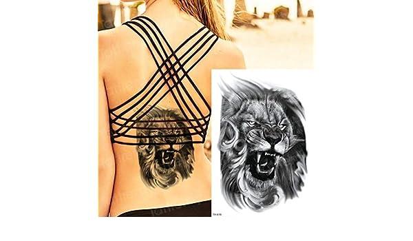 Handaxian 3 Piezas Tatuaje Impermeable arowana Cuerpo de la Muerte ...