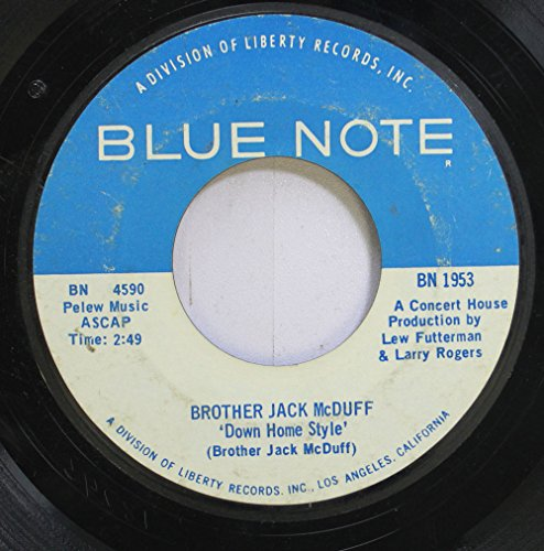 Price comparison product image brother jack mcduff 45 RPM down home style / theme from electric surfboard