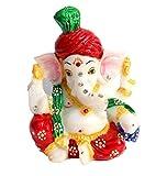 Rajasthan Handicrafts Ganesh,Ganesha,Laddu Ganesh ji,Mangal Murti,Diwali Ganesh Poojan,Deepawali Gift,Ganesh ji for Laxmi ji, Marble Statue Idol Car Decor,Home decor,Office Decor,Gift for diwali,Pagdi Ganesha