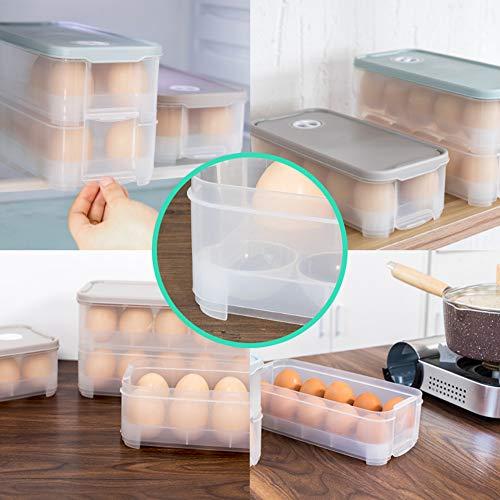 HANSGO Egg Holder, DeviledDispenser Container Egg Tray with Lid for 20 Small Eggs Egg Carrier Box