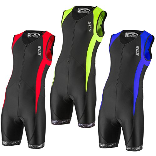 SLS3 Men`s Triathlon Tri Suit FX | Trisuit | 2 Pockets | Soft Custom Chamois | German Designed