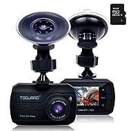 TOGUARD Mini Full HD 1080P Caméra Embarquée Voiture Grand Angle DASHCAM Appareil Photo Intégré - Capteur-G, Enregistrement En Boucle, Carte MicroSD 16 Go Inclus