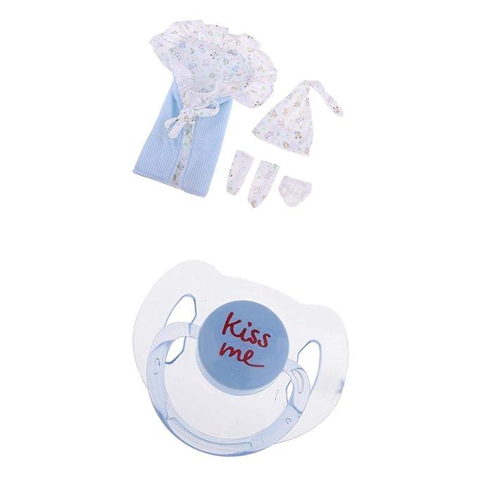 F Fityle Miniatura Saco de Dormir + Sombrero + Chupete para Muñeca Bebé Renacida: Amazon.es: Juguetes y juegos