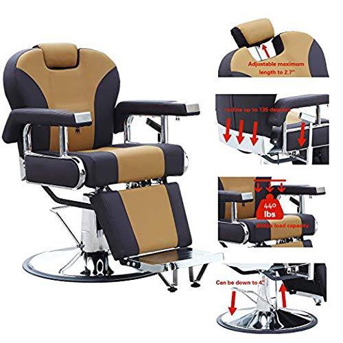 Walcut Barbershop Barber Chair Hydraulic Pump Hairdressing Reclining Chair For Salon Shampoo Beauty Spa Equipment Hair Cutting