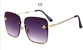 CCGSDJ 2018 Bee Retro Square Sunglasses Mujeres Marca Diseñador De Lujo Oro Marco De Metal Grandes Moda Gafas De Sol Vintage Mujer Tonos
