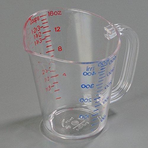 Carlisle 4314207 Clear 16 Oz. Measure Cup, Polycarbonate