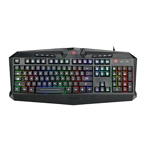 Redragon K503 RGB Gaming Keyboard, RGB Backlit USB Gaming Keyboard with 8 dedicated Multimedia Keys, Total 112 keys, Full Size Keyboard