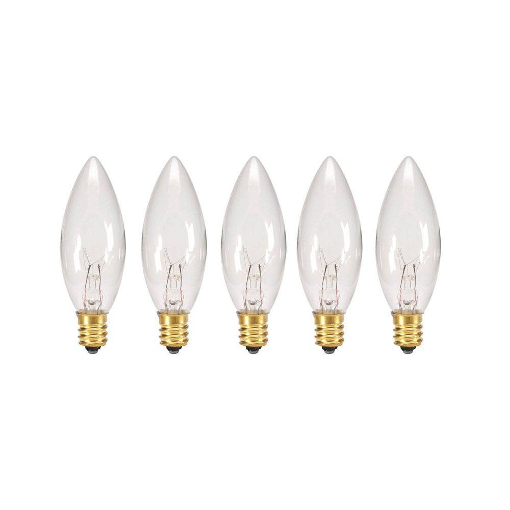 Replacement Light Bulbs For Electric Candle Lamps 7 Watt Clear Pack Of 5 Bul Ebay
