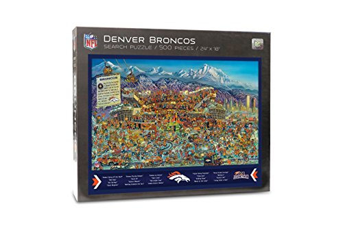Joe Journeyman 9029687 Denver Broncos Seek & Find Adventure Puzzle, Multicolor
