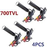4PCS 700TVL Mini SONY CCD Bullet CCTV Security Camera Outdoor 3.6mm Wide Angle
