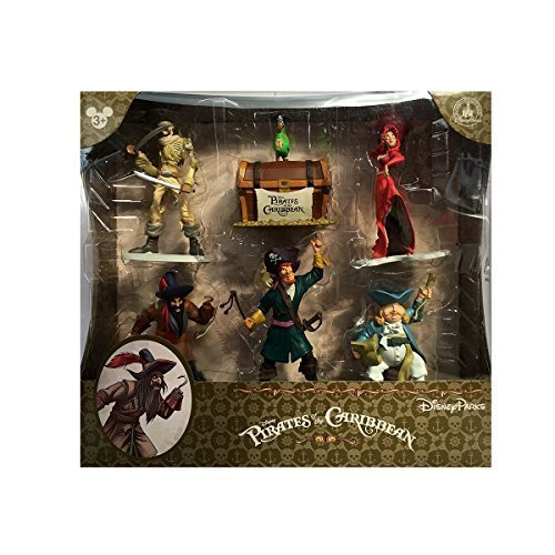 Caribbean 6 Piece - Disney Parks Pirates of the Caribbean 6 Piece Figure Playset Set
