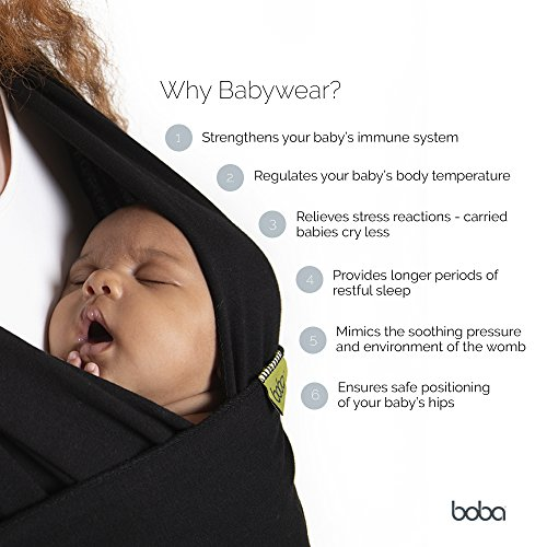 Large Product Image of Boba Baby Wrap Carrier, Grey - The Original Child and Newborn Sling, Perfect for Infants and Babies Up to 35 lbs (0 - 36 months)