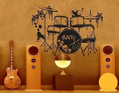 Klebefieber Wandtattoo Schlagzeug B x H  100cm x 71cm 71cm 71cm Farbe  Schwarz B0716KVKL2 Wandtattoos & Wandbilder 04ffd3