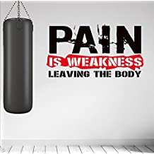 Pain is weakness... Premium Motivational Wall Art Decal.