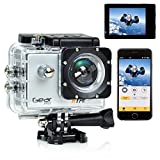 Gear Pro Sports Action 4K Hype Cam – Ultra HD Wi-Fi Action Camera, Silver (GDV485SL)