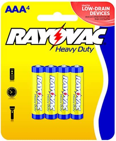 Batteries: Rayovac Heavy Duty
