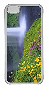 iPhone 5C Case, Personalized Custom Waterfall for iPhone 5C PC Clear Case