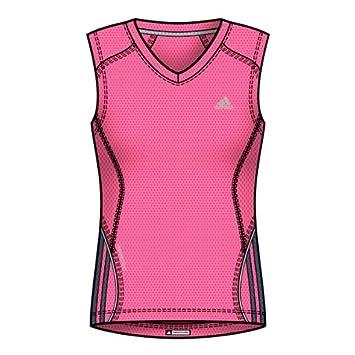 Adidas - Fitness - y Camiseta de Entrenamiento para Mujer Ultrapop Potencia té - SS13 Rosa