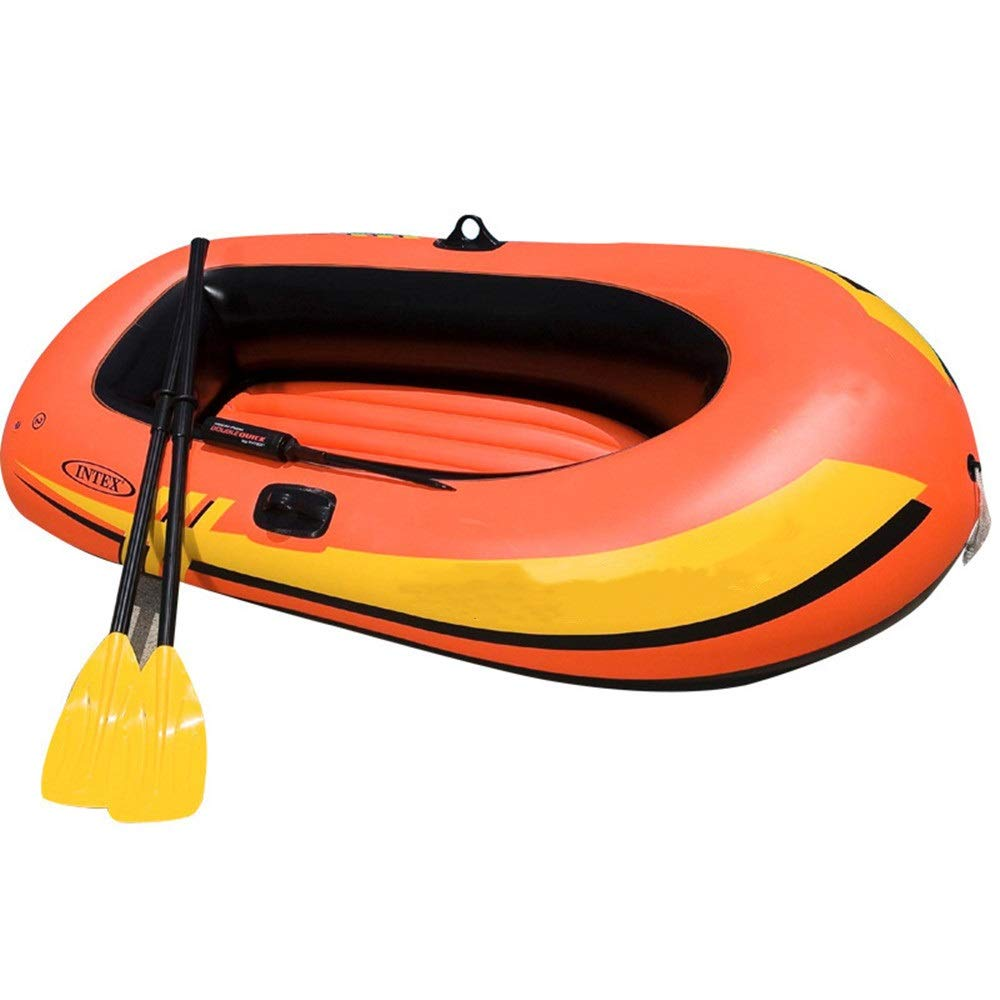 ZnMig Easy to Use Durable Explorer Two Or Three Inflatable Boat Group Fishing Boat Thickening Kayak Inflatable Boat Hovercraft to Send Boat Propeller Air Pump/Orange by ZnMig