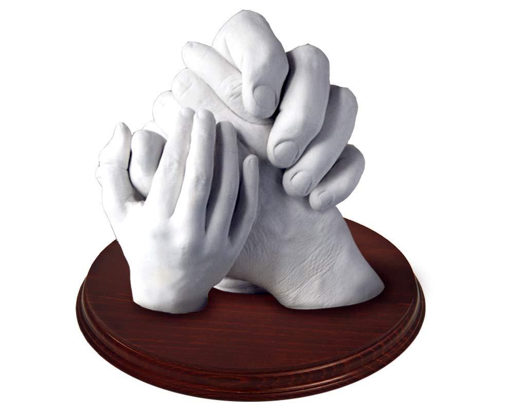 Escultura de manos en 3D (Hasta 5 Manos (Con Peana), Family): Amazon.es: Hogar