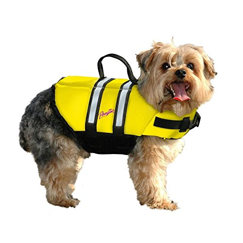 Pawz Pet Products Doggy Life Jacket, Yellow, X-Small