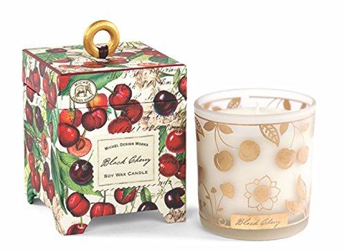 - Michel Design Works Gift Boxed Soy Wax Candle, 6.5-Ounce, Black Cherry