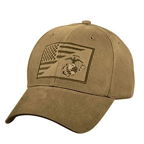 (Rothco USMC Globe and Anchor Low Pro Cap Coyote Brown)