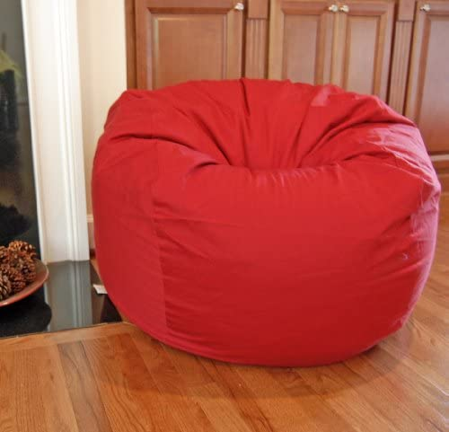Ahh Products Red Organic Cotton Washable Large Bean Bag Chair