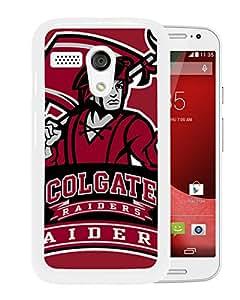NCAA Colgate Raiders 3 White Motorola Moto X Protective Phone Cover Case