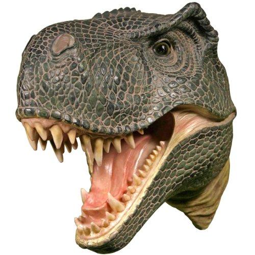 Wall Mounted T-rex Dinosaur Head Tyrannosaurus Rex Hanging Display Plaque Decor (T-rex Head)