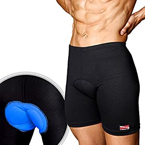 Arltb Bike Shorts Underwear 5 Sizes Men & Women 3D Padded Bicycle Cycling Underwear Compression Cycle Touring Shorts Tights Breathable Elastic Relieve Hip Pain for Mountain Bike Road Bike BMX MTB