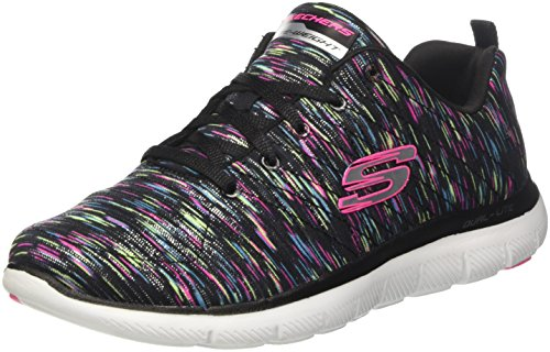 Skechers Damen Flex Appeal 2.0-reflection Sneaker Schwarz (nero / Multicolore)
