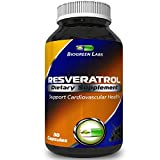 High Potency Resveratrol Root Supplement Pure Grape Seed Extract - Premium Capsule Pills - Anti Aging - Maximum Strength Antioxidant - Supplement For Health amp Skin Care - Women amp men By Biogreen Discount