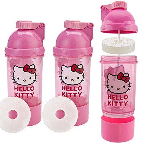 - Zak! (3 Pack) Hello Kitty Kids Snack & Sip BPA Free Plastic 15oz Water Bottle Canteen, 2-In-1 Ice Pack Water Bottle