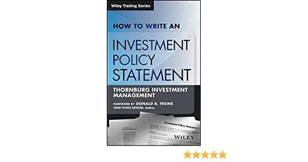 AmazonCom How To Write An Investment Policy Statement Wiley