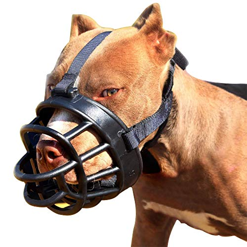 ICC Dog Muzzle,Soft Silicone Plastic Adjustable Basket for Dog,Prevent Biting, Chewing and Barking(Size 5)