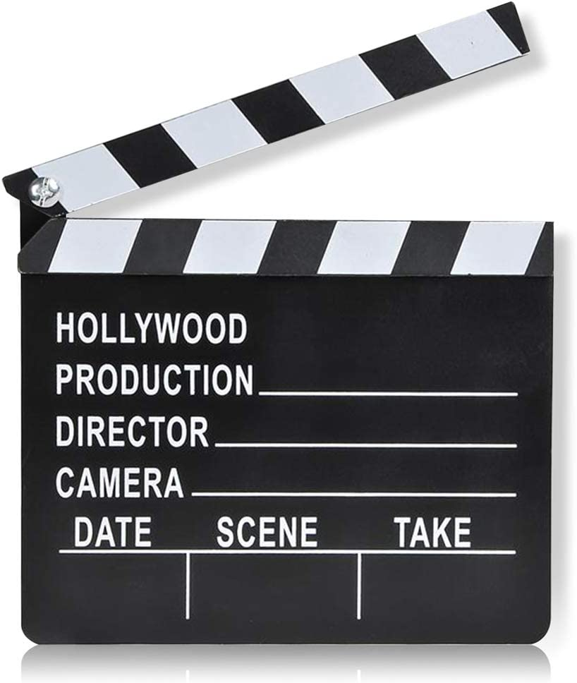 ArtCreativity Movie Clapboard, Hollywood Movie Theme Party Decorations, Oscar Academy Awards Party Supplies and Film Décor, Slate Clapperboard Prop for Stage Plays, Fun Photo Booth Prop