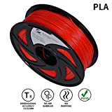 LEE FUNG 1.75mm PLA 3D Printing Filament Dimensional Accuracy +/- 0.05 mm 2.2 LB Spool DIY Material Tools (Red)