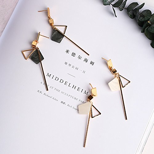 - Korean temperament long section of simple geometric pendant earrings personalized earrings wild influx of people female pendant earrings ear jewelry