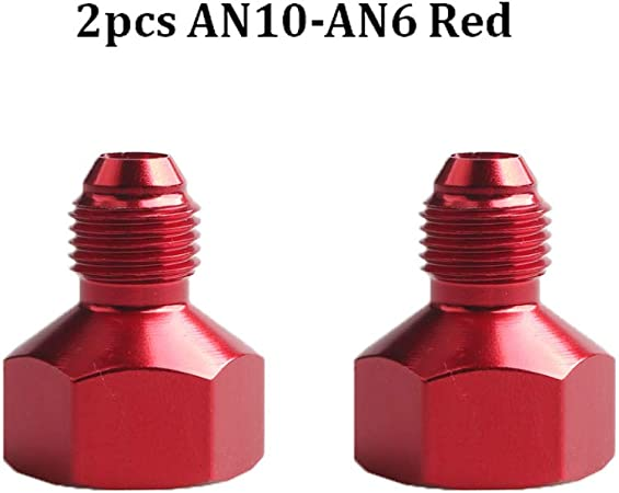 6AN Male Flare Reducer Flare Fitting Hose Aluminum Alloy Red 8AN Female to