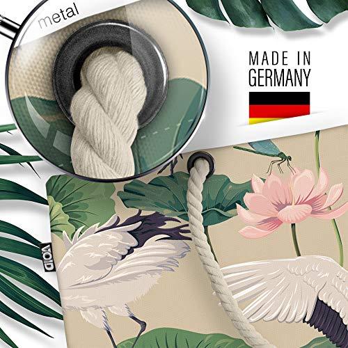 VOID Kraniche strandväska Shopper 58 x 38 x 16 cm 23 L XXL shoppingväska väska resväska Beach Bag