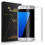 SURWELL Schutzfolie Displayschutzfolie [1-Pack] mit 9H Härtegrad 3D Full Coverage 99% Transparenz Full HD für Samsung Galaxy S7 Edge (Transparent)