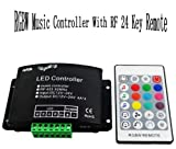 MORELIGHT RF music beat controller 12/24v remote for 5pin rgbw led rgb+w light reel 5050