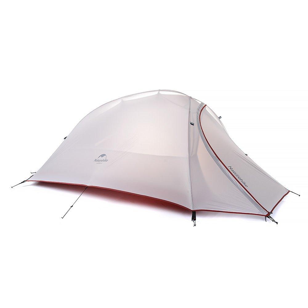 HYSENM アウトドア キャンプ テント 一人用 設営簡単 タープ機能付き 超軽量 防水性能抜群 キャンプ 登山 B01HIG0F1C 20Dシリコーン|グレー グレー 20Dシリコーン